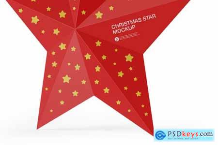 Glossy Christmas Star Toy Mockup 5556171