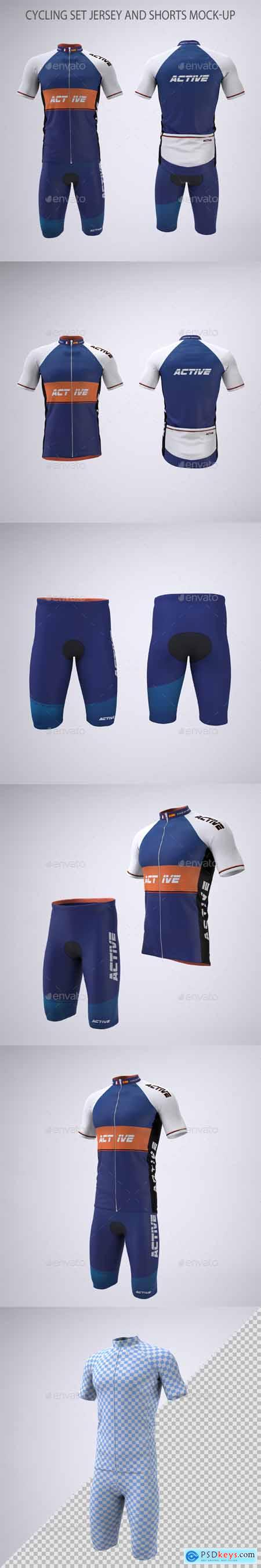 Cycling Set Jersey and Shorts Mock-up 28972672