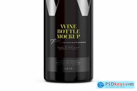 Dark Glass Wine Bottle Mockup 4998879