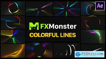 Colorful Flying Lines - After Effects 29216984