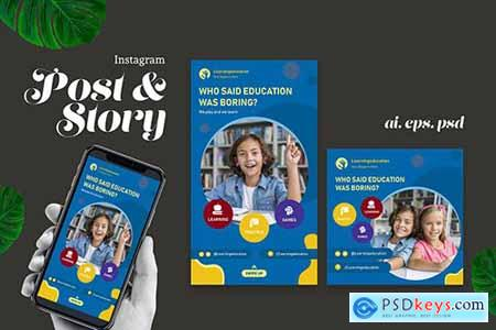 Education Promotion Instagram Post & Story
