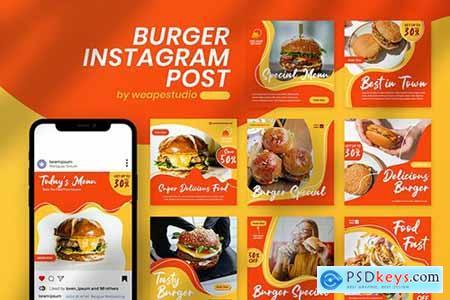 Burger Instagram Post