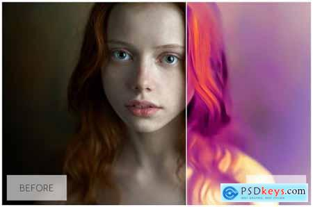 Lovely Oil Painting Effect Actions 5430931