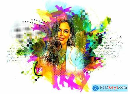 Watercolor Painting Photoshop Action 5458160