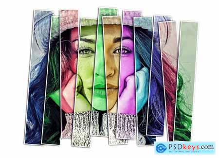 Vertical Panels Portrait PS Action 5431017