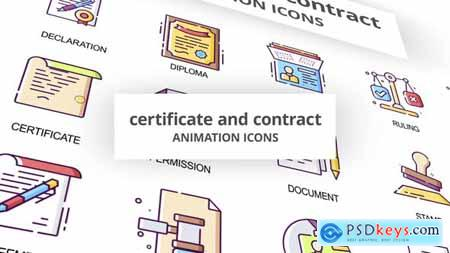 Certificate & Contract - Animation Icons 29201812