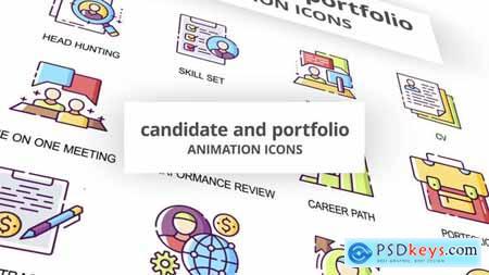 Candidate & Portfolio - Animation Icons 29201796