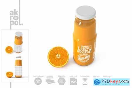 Orange juice Bottle Mock up 4542469