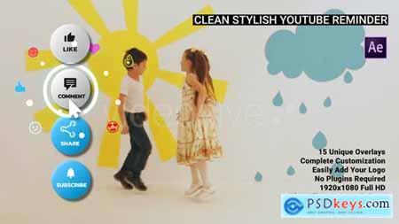 Clean Stylish YouTube Reminder – AE 28728261