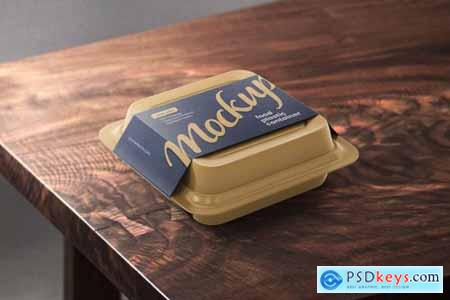 Plastic Food Container Mockup Set 5548996
