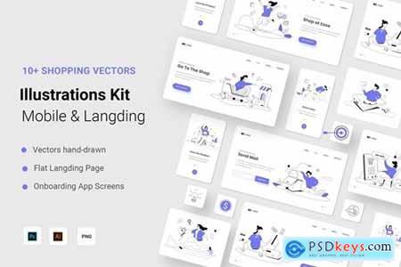Shopping Illustration Kit