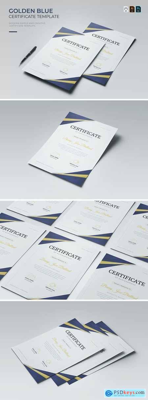 Golden Blue - Certificate