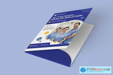 Medical healthy folder PSD Template