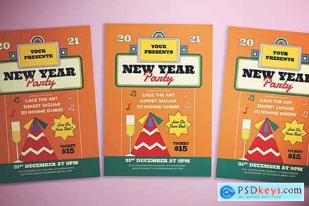 New Year At Home Flyer