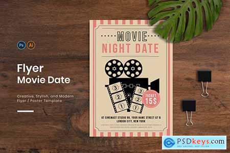 Movie Date Flyer