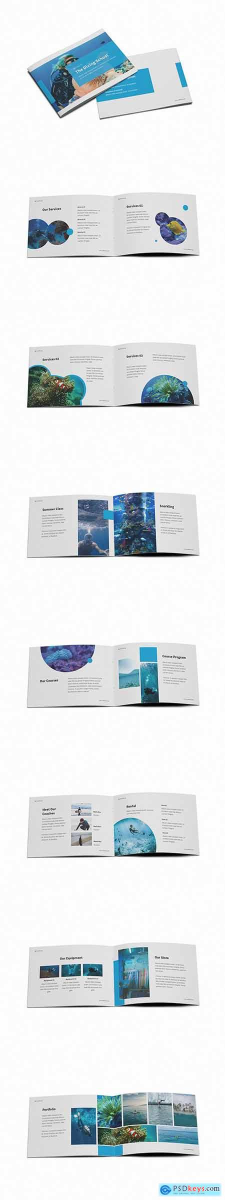 The Dive A5 Brochure Template