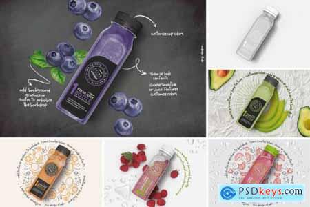 Clear Juice Smoothie Bottle Mockup 5580128