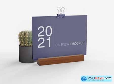 Calendar mockup - 20 PSD
