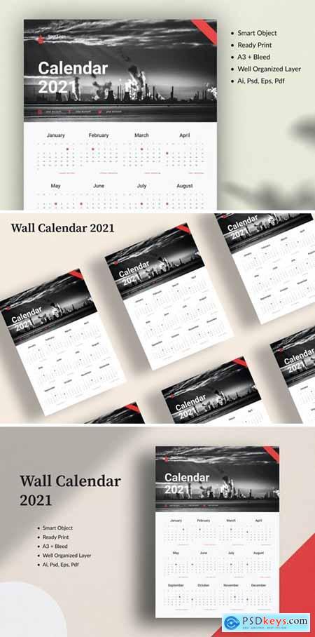 Wall Calendar 2021 L48D899