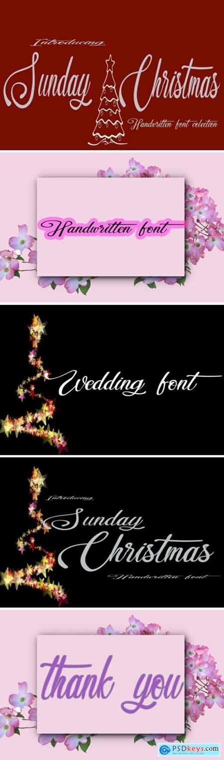 Sunday Christmas Font