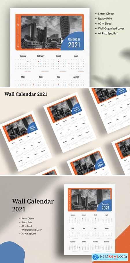 Wall Calendar 2021 2XEBDLX