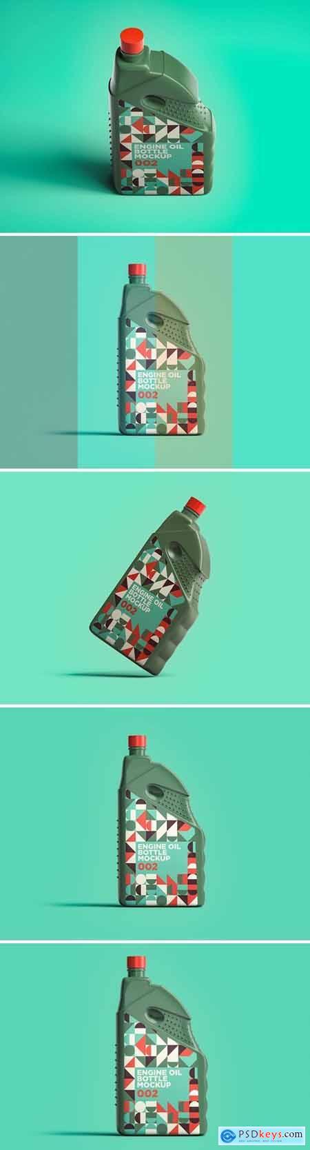 Engine Oil Bottle Mockup 002
