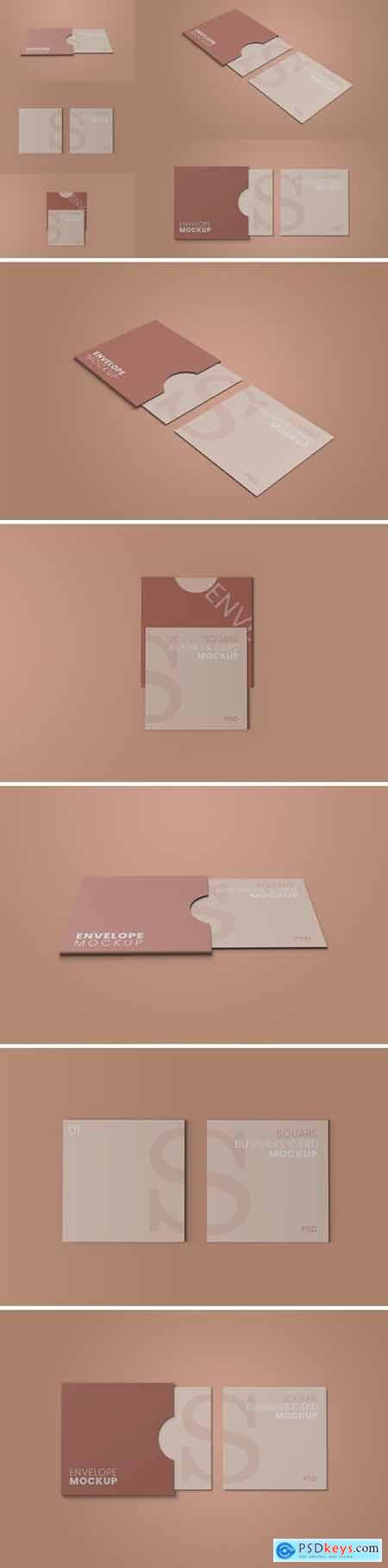 Square Envelope Mockup Vol 01