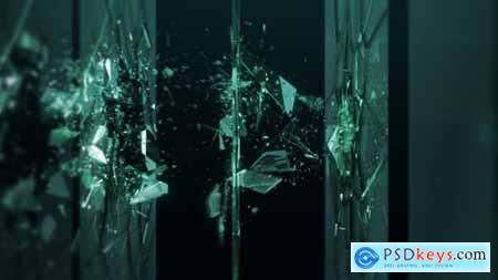 Shattered Glass Logo Ident 29184519