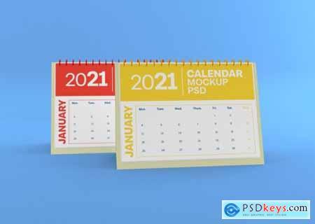 Horizontal desk calendar mockup