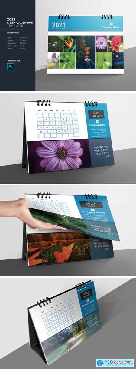 Desk Calendar Template 2021 6527118