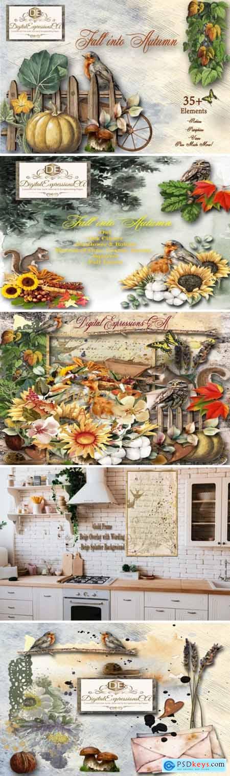 Fall into Autumn 35 Embellishments 6526420