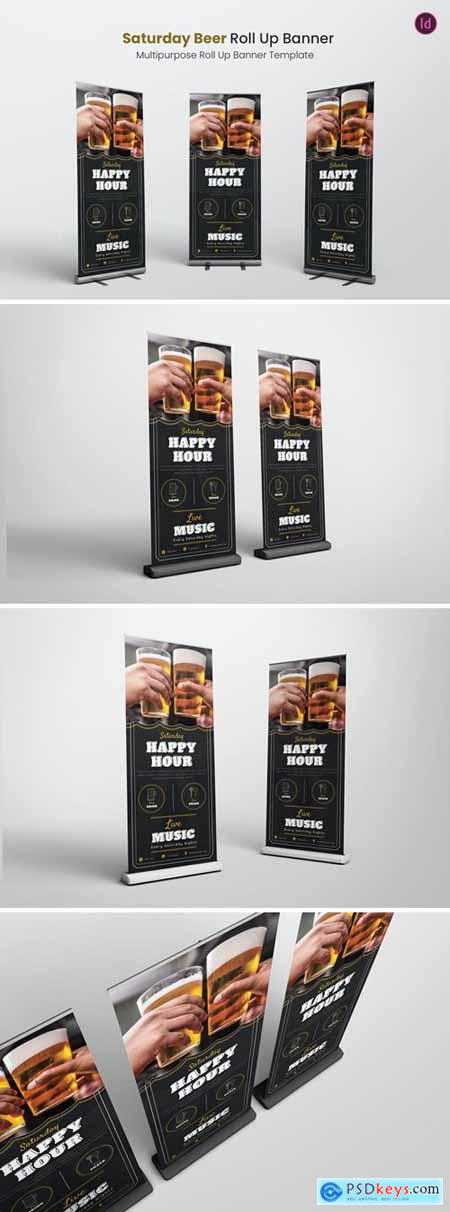 Saturday Beer Roll Up Banner