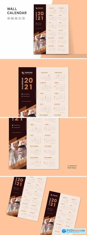 Wall Calendar 2021 9MY6M6A