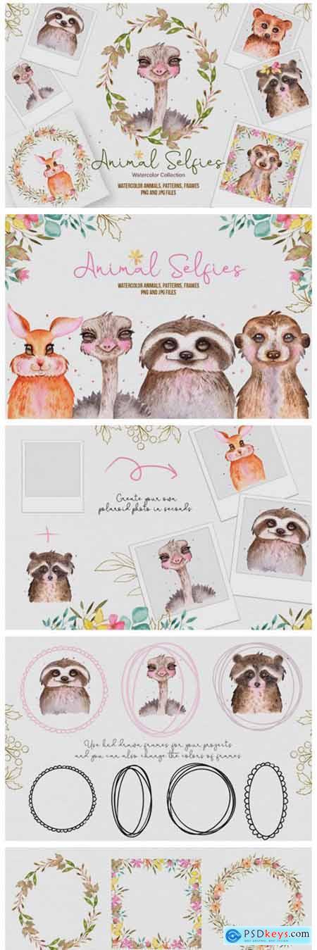Watercolor Animal Selfies 6509644