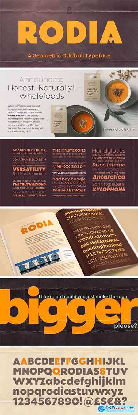 Rodia Font Family