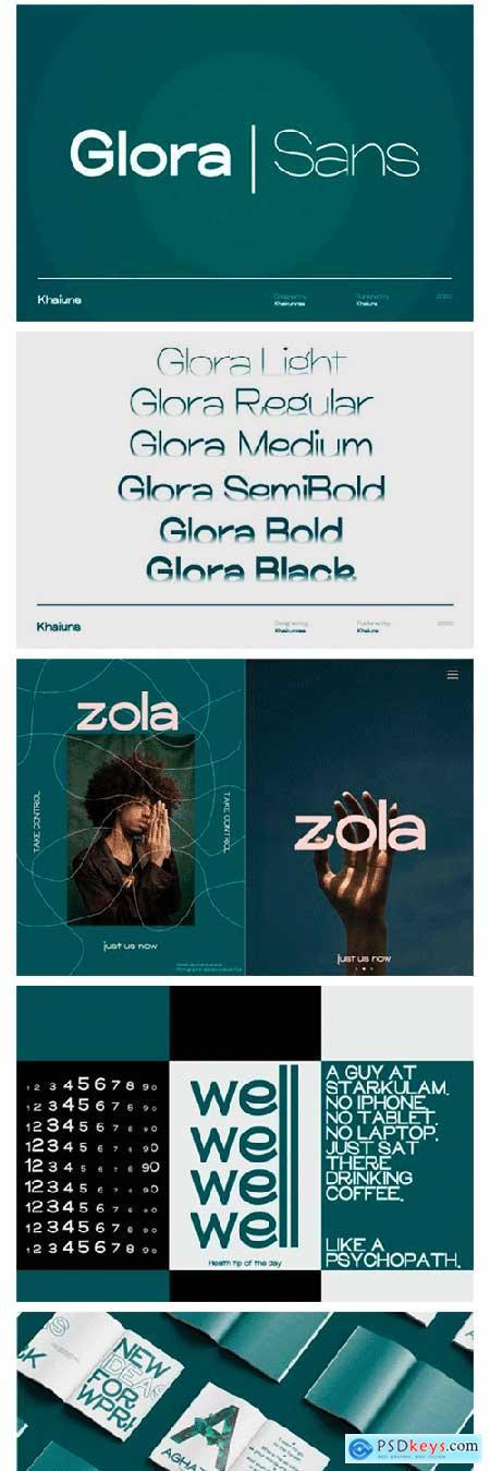 Glora Sans Font