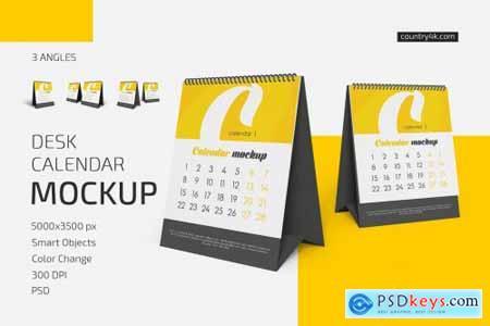 Desk Calendar v05 Mockup Set 5572547