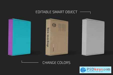 Flat Paper Box Mockup Set 5557307