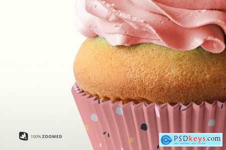 Frontview Cupcake Casing Mockup 5051794
