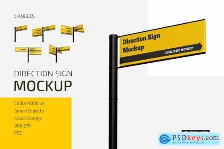 Direction Sign Mockup Set 5601634