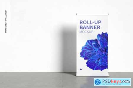 Standing roll-up banners mockup