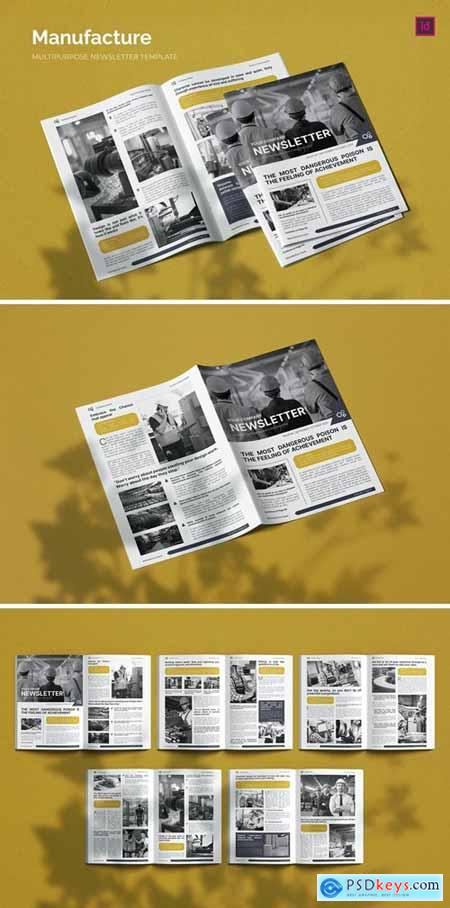 Manufacture Issue - Newsletter Template
