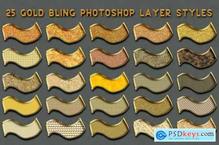 Gold Bling Photoshop Layer Styles 5115006