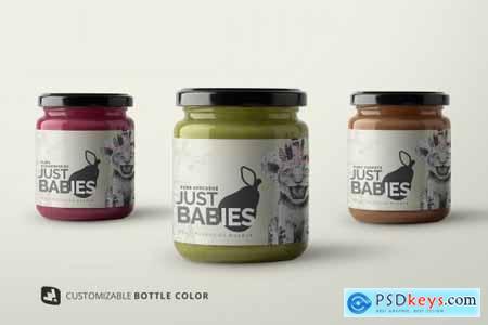 Organic Baby Food Packaging Mockup 4792961