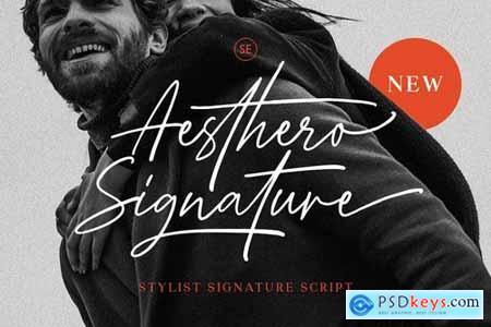 Aesthero - Stylish Signature Script