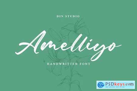 Amelliyo-Handwritten Font