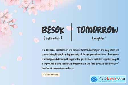 Besok - The Cute Brush Font