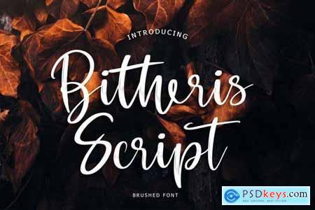 Bitheris Script Brush Font