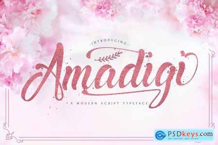 Amadigi - Modern Script Font