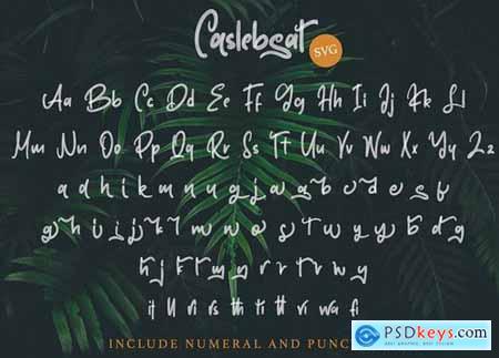 Caslebeat - Playfull SVG Font